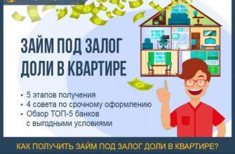 Можно ли взять кредит под залог доли в квартире?